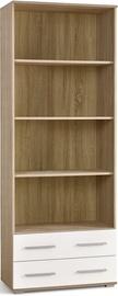 Raamaturiiul LIMA REG3 Sonoma Oak/Glossy White