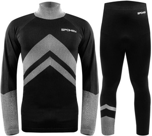 Spokey Alert Thermo Clothes Gray/Black M/L