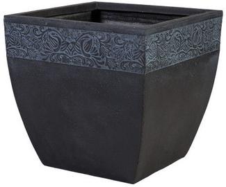 Home4you Flowerpot Flore-3 H31cm Dark Gray