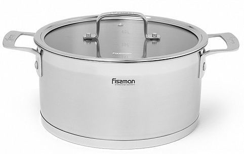 Fissman Fobus Casserole With Glass Lid D20cm 3.1l