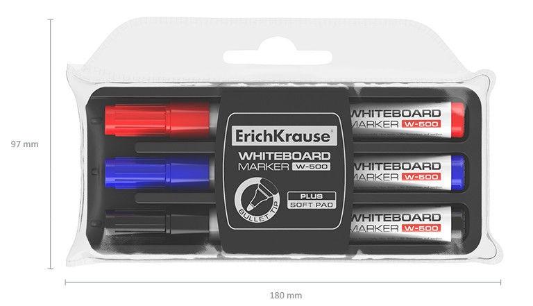 ErichKrause Whiteboard Marker W-500 3pcs