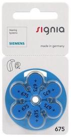 Siemens Signia A675 Hearing Aid Batteries 6x