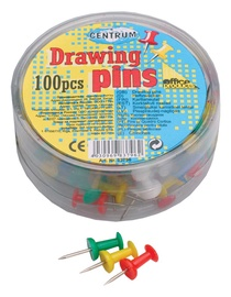 Centrum Drawing Pins Coloured 100pcs 83796