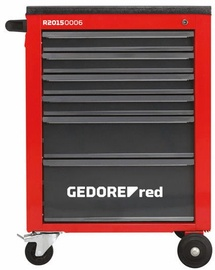 Gedore Tool Trolley 6 Drawers Red/Black