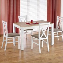 Обеденный стол Halmar Maurycy Sonoma Oak/White, 1180 - 1580x750x760 мм