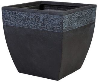 Home4you Flowerpot Flore-2 H37cm Dark Gray