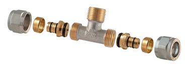 TDM Brass Demountable Threaded Tee 3/4''x18mm 1460E