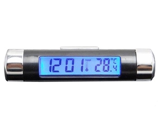 SN Car Clock And Thermometer