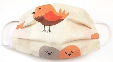 MamoTato Child Face Mask With Filter Pocket Cream Birds