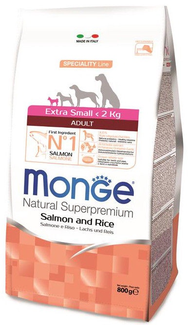 Monge Speciality Line Adult Extra Small Salmon & Rice 800g
