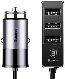 Baseus Enjoy Together 4x USB Car Charger 1.5m Grey