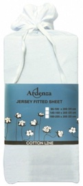 Ardenza Jersey Fitted Sheet 90-100x200cm White
