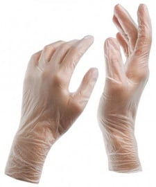 Vinyl Disposable Gloves L 100pcs