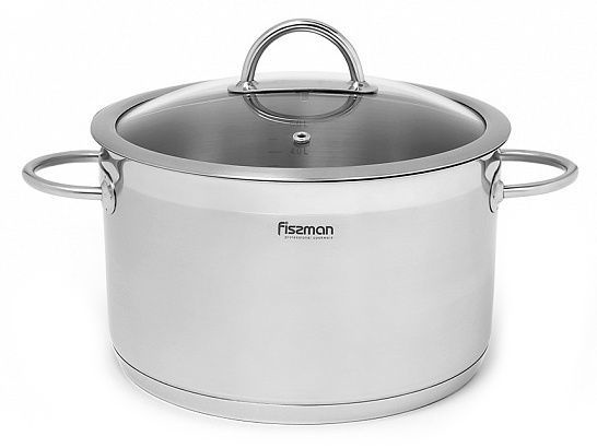 Fissman Benjamin Casserole With Glass Lid D24cm 6.3l