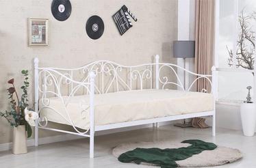 Кровать Halmar Sumatra White, 210x98.8 см, с решеткой