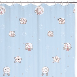 Rayen Shower Curtain 180x200cm Blue