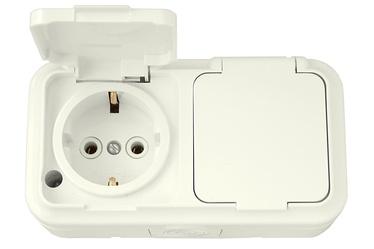 Okko Socket and Switch PA16-303 Ivory
