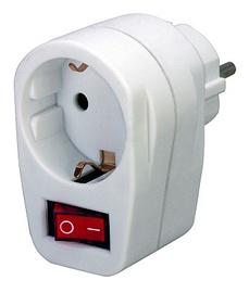 Brennenstuhl 1508070 Plug with Button White