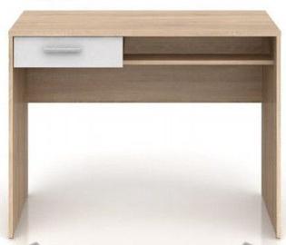Письменный стол Black Red White Nepo Plus BIU1S, белый/дубовый