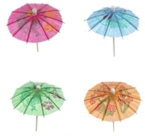 Pap Star Decor Umbrella 8cm 144pcs