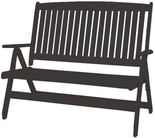 Folkland Timber Folding Garden/Terrace Bench Bavaria Graphite