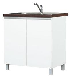 Bodzio Sandi Kitchen Sink Cabinet 80x86x52cm Polished White