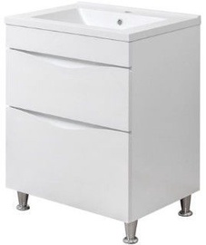 Sanservis Smile-60 Cabinet with Basin Como-60 White 60x82x45cm