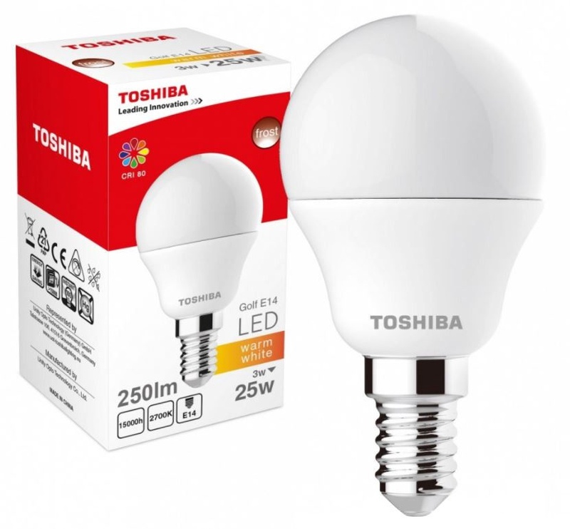 Toshiba LED Lamp Warm White 3W