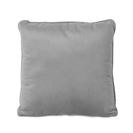 Home4you Velvet Pillow 45x45cm Grey