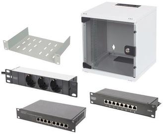"Digitus Wallmount Cabinet 10"" 6U/300mm Set 1 Gray"