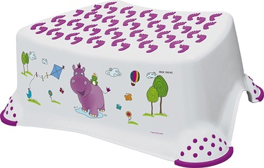 Keeeper Baby Step Stool Hippo White