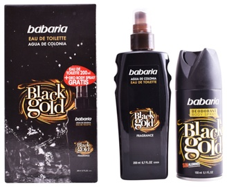 Babaria Men Black Gold 200ml EDT + 150ml Deodorant Body Spray