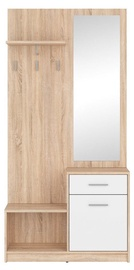 Black Red White Hallway Unit Nepo Plus Sonoma Oak/White
