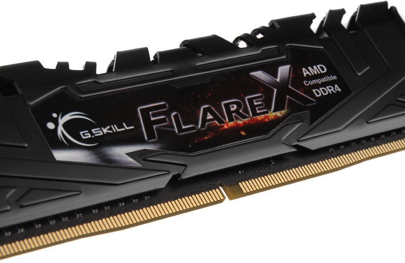 G.SKILL Flare X for AMD Black 16GB 2400MHz CL16 DDR4 KIT OF 2 F4-2400C16D-16GFX