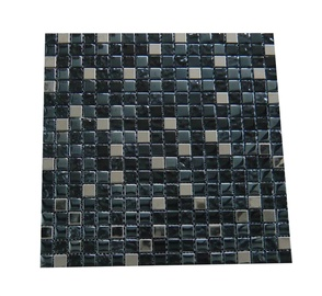SN Glass Mosaic A2908 300x300mm Black/Grey