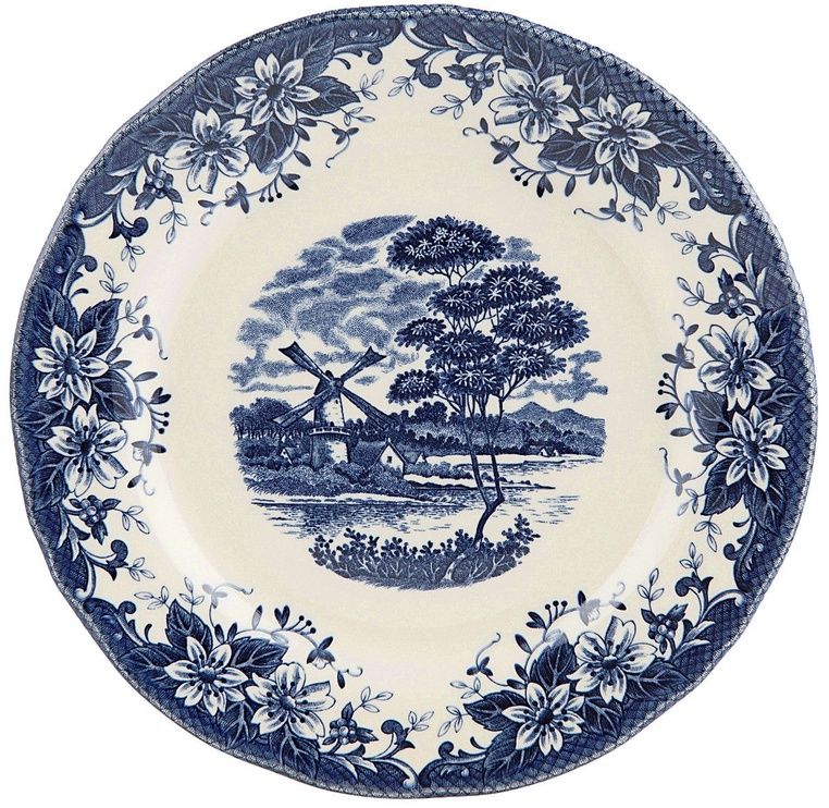 Claytan Windmill Soup Plate 20.3cm Blue