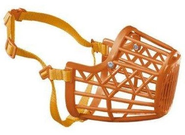 Ferplast Dog Plastic Muzzle Orange