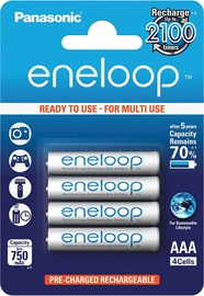 Panasonic Eneloop Rechargeable Battery 4xAAA 750mAh