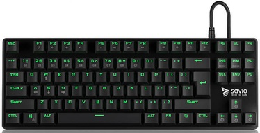 Mänguri klaviatuur SAVIO Tempest Outemu Blue EN
