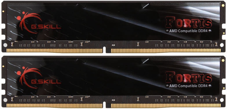 G.SKILL Fortis for AMD Black 16GB 2400MHz CL16 DDR4 KIT OF 2 F4-2400C16D-16GFT
