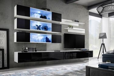 ASM Fly J3 Living Room Wall Unit Set Black/White