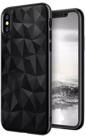 Blun 3D Prism Shape Back Case For Samsung Galaxy J3 J330 Black