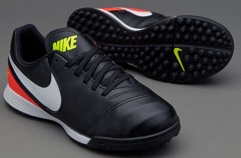 Nike Tiempo Legend VI TF JR 819191 018 Black Orange 38
