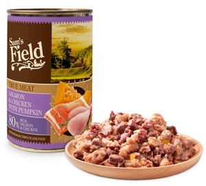 Sam's Field True Meat Salmon & Chicken With Pumpkin Dog Wet Food 400g
