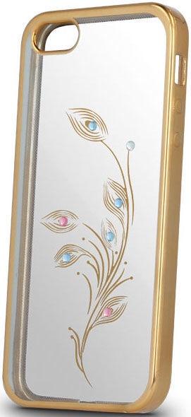 Beeyo Flower Back Case For Huawei P8 Lite 2017/P9 Lite 2017 Transparent/Gold