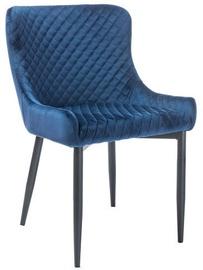 Söögitoa tool Signal Meble Colin B Velvet Blue/Black
