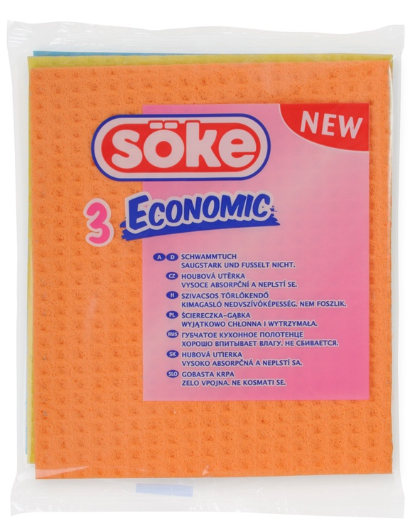 Soke Sponge Cloth 3pcs
