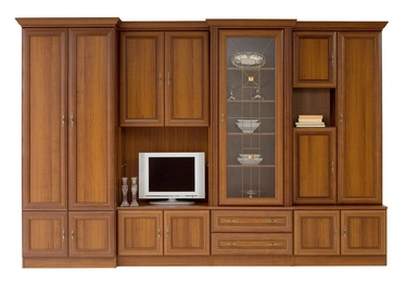 Black Red White Wiki B Wall Unit Aosta Walnut Dark