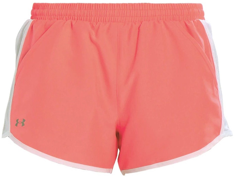 """Under Armour Shorts Fly By 3"""" 1297125-819 Pink XS"""