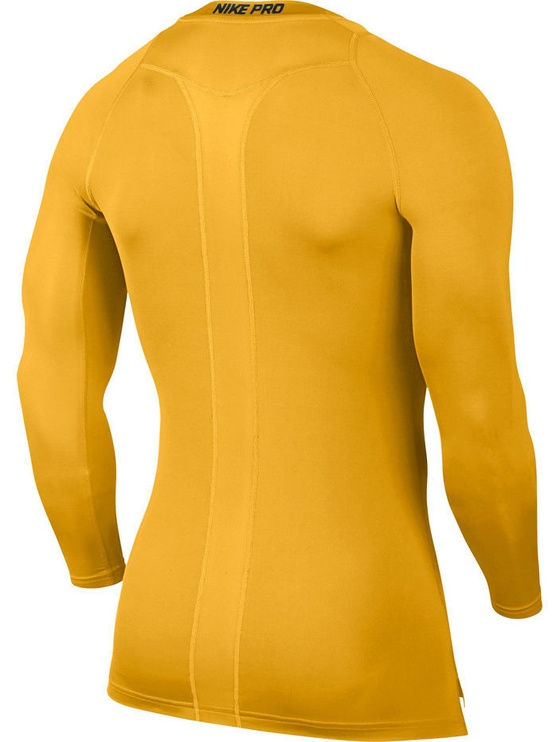 Nike Men's Pro Cool Compression LS Top 703088 739 Yellow XL